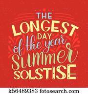 Summer solstice lettering