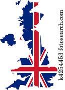 Clipart - england, irland, schottland, und, wales k2911182 ...