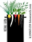 wachsen, gemüsegarten, und, koch, suppe