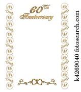 60th anniversary invitation border