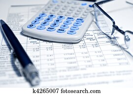 Business concept - financial report
