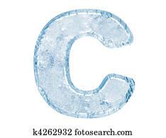 Ice font. Letter C