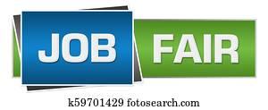 Job Fair Green Blue Horizontal