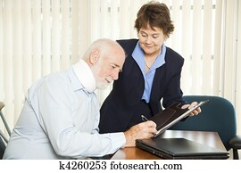 Personal Injury Lawyer with Client