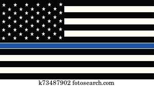 American police flag. Thin Blue Line American Police Flag.