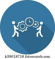 Project Management Icon. Flat Design.