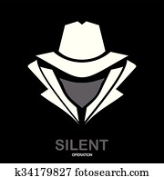 Secret service agent icon. Incognito. hacker. spy agent. undercover.