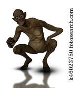 3D demonic creature