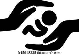 Child Care Icon. Flat Design.