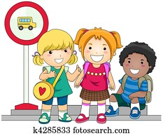 Waiting for School Bus