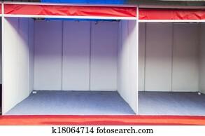 Empty tradeshow booth