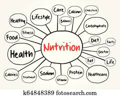 Nutrition mind map flowchart