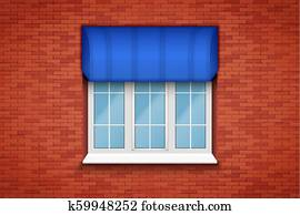 fenêtre en pvc avec marquise