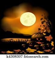 halloween, hintergrund