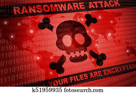 Ransomware Attack Malware Hacker Around The World Background