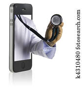 Doctor on Smart Phone