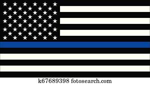 American police flag