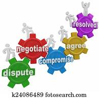 Compromise Dispute Negotiation Agreement Resolution People on Ge