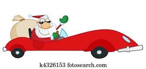 Happy Holidays Greeting With Santa
