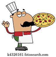Hispanic Pizza Chef Man