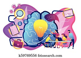 Project management concept vector illustration.