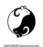 ratte, yin yang