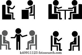 Set of Consulting icons, vector