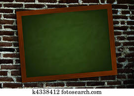 Chalkboard on a wall