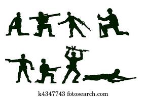 Illustrated Army Soldiers