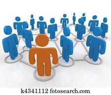 Social Network of Linked People