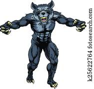 Werewolf mascot