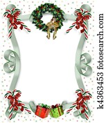 Christmas border traditional