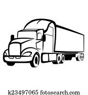 lastwagen, symbol