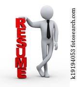 3d businessman resume word presentation