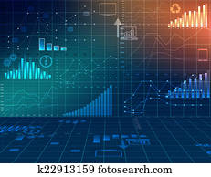 abstract computer graphics business financial statistics.
