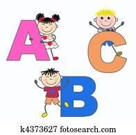 alphabet letters A B C