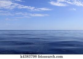blue sea horizon ocean perfect in calm