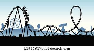 Cartoon Rollercoaster