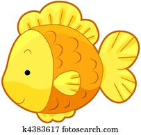Cute Gold Fish