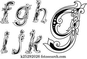 floral-ornamental-outline-sketch-clip-art__k25292026 Vintage Monogram Letter D Template on printable monogram letter template, 3 letter monogram template, letter w template, monogram heart template, monogram art template, letter z template, vintage letter d template, letter e template,
