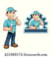 Handyman worker