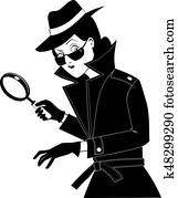 Secret agent clip-art