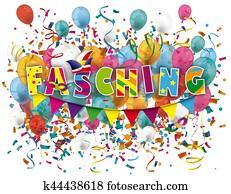 Fasching Balloons Confetti