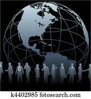 Global Business People Earth Globe