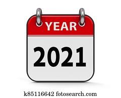 Icon calendar 2021 year