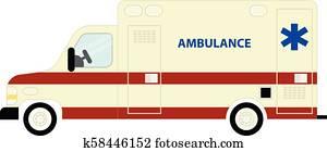 krankenwagen, bus, symbol