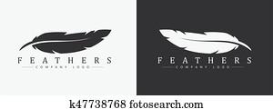 logo, design, mit, feder, und, firma, name, für, a, schriftsteller, oder, publishers.