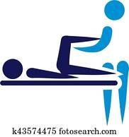 physische therapie, -, abstrakt, symbol