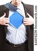 Superman business concept - super hero businessman