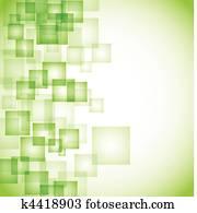 abstrakt, grün, quadrat, hintergrund